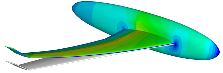 Simulation of an airplane wing